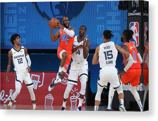 Nba Pro Basketball Canvas Print featuring the photograph Chris Paul by Joe Murphy
