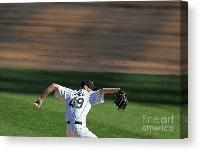 American League Baseball Canvas Print featuring the photograph Chris Sale by Jonathan Daniel