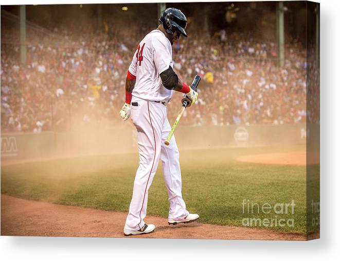 Wind Canvas Print featuring the photograph David Ortiz by Billie Weiss/boston Red Sox
