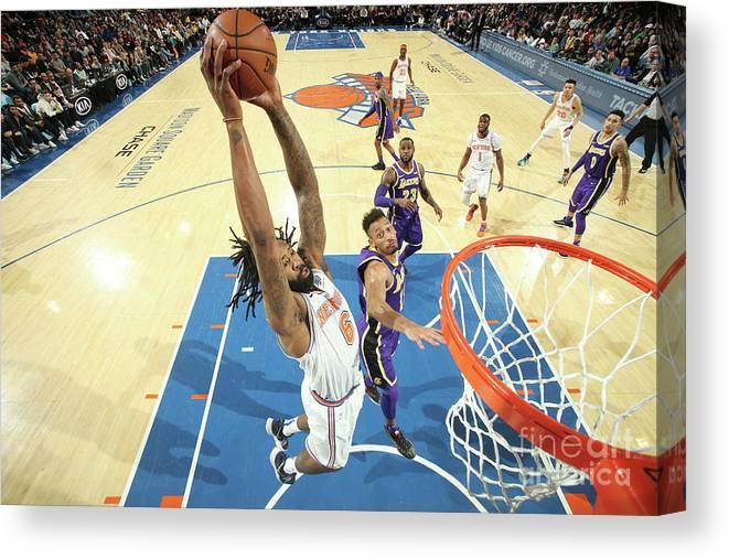 Nba Pro Basketball Canvas Print featuring the photograph Deandre Jordan by Nathaniel S. Butler