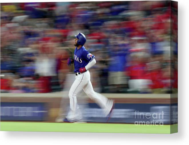 People Canvas Print featuring the photograph Elvis Andrus by Tom Pennington