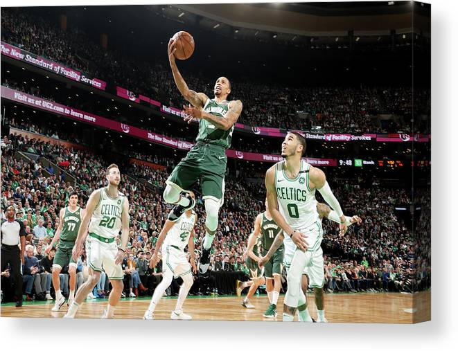 Playoffs Canvas Print featuring the photograph George Hill by Nathaniel S. Butler