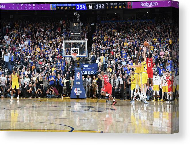 Nba Pro Basketball Canvas Print featuring the photograph James Harden by Andrew D. Bernstein