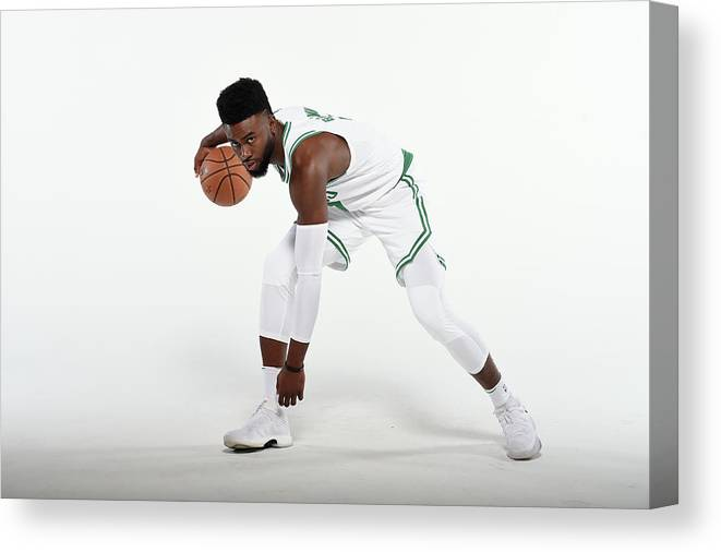 Media Day Canvas Print featuring the photograph Jaylen Brown by Brian Babineau