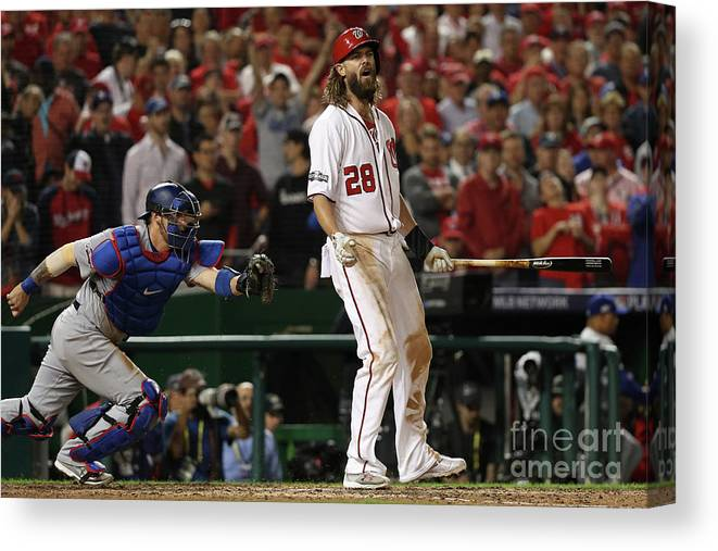 Ninth Inning Canvas Print featuring the photograph Jayson Werth by Patrick Smith