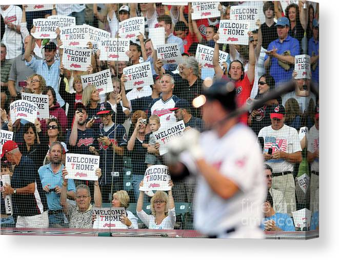 American League Baseball Canvas Print featuring the photograph Jim Thome by Jason Miller