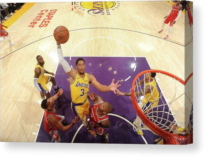 Nba Pro Basketball Canvas Print featuring the photograph Josh Hart by Andrew D. Bernstein