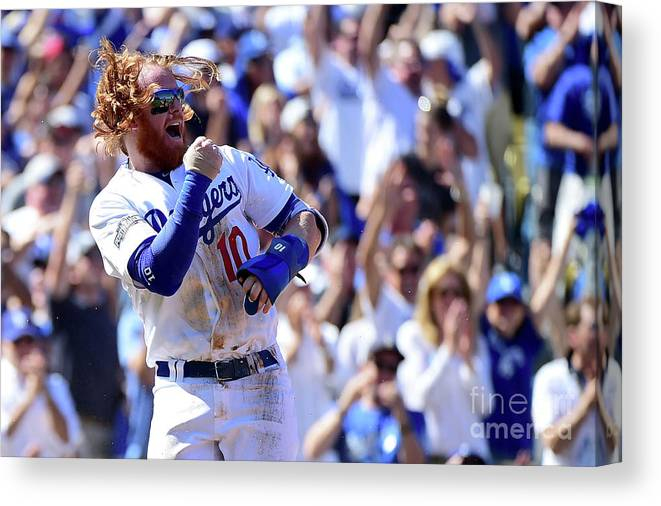 Three Quarter Length Canvas Print featuring the photograph Justin Turner by Harry How