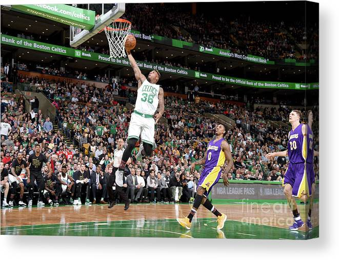 Nba Pro Basketball Canvas Print featuring the photograph Marcus Smart by Brian Babineau