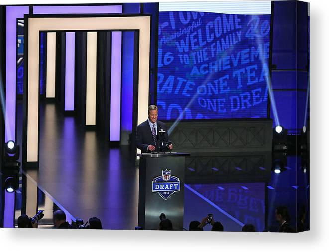 Nfl Draft Canvas Print featuring the photograph NFL Draft by Jonathan Daniel