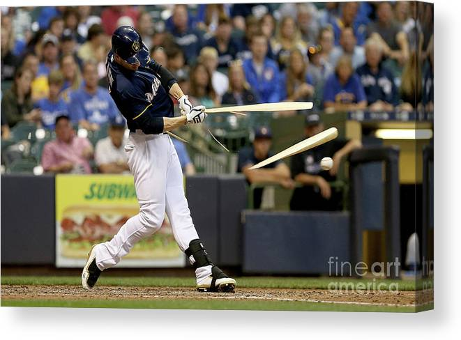 People Canvas Print featuring the photograph Ryan Braun by Dylan Buell