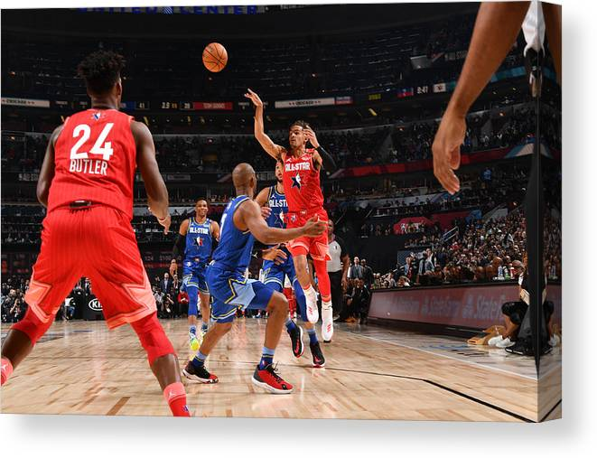 Nba Pro Basketball Canvas Print featuring the photograph 69th NBA All-Star Game by Jesse D. Garrabrant
