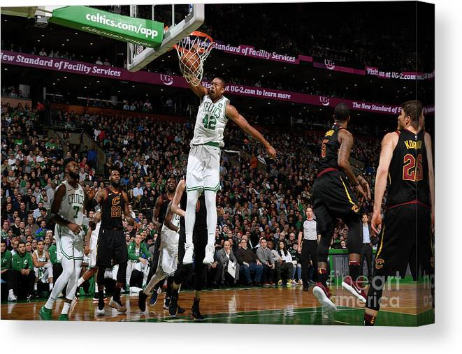 Nba Pro Basketball Canvas Print featuring the photograph Al Horford by Brian Babineau