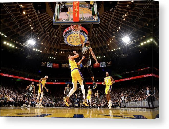 Nba Pro Basketball Canvas Print featuring the photograph Andre Iguodala by Noah Graham