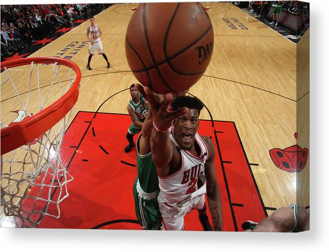 Playoffs Canvas Print featuring the photograph Jimmy Butler by Gary Dineen