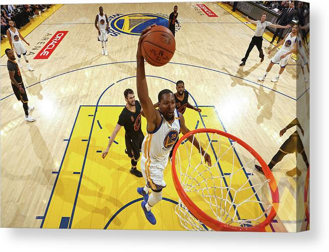 Playoffs Canvas Print featuring the photograph Kevin Durant by Nathaniel S. Butler