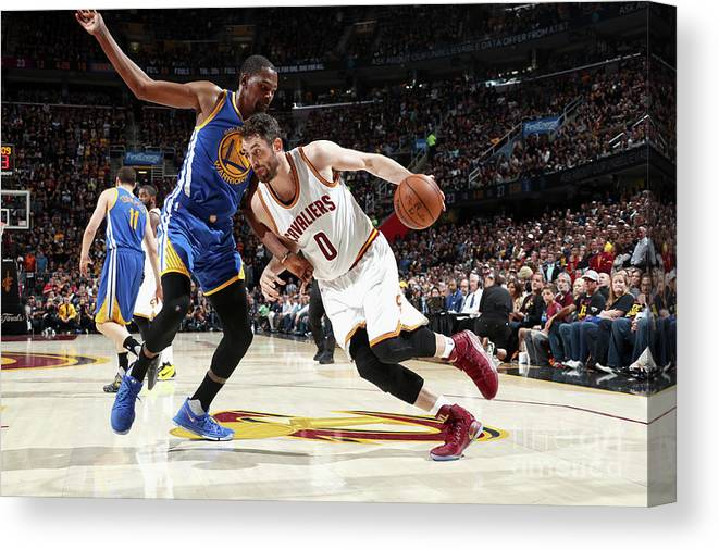 Playoffs Canvas Print featuring the photograph Kevin Love by Nathaniel S. Butler