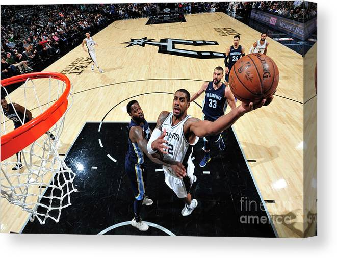 Nba Pro Basketball Canvas Print featuring the photograph Lamarcus Aldridge by Mark Sobhani
