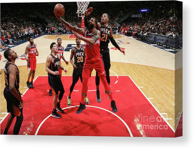 Nba Pro Basketball Canvas Print featuring the photograph Markieff Morris by Ned Dishman