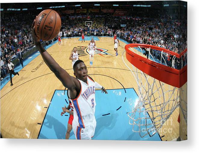 Nba Pro Basketball Canvas Print featuring the photograph Victor Oladipo by Layne Murdoch