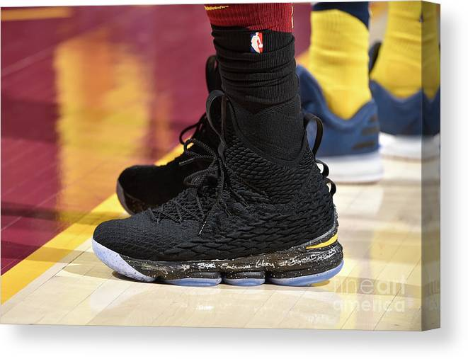 Playoffs Canvas Print featuring the photograph Lebron James by David Liam Kyle