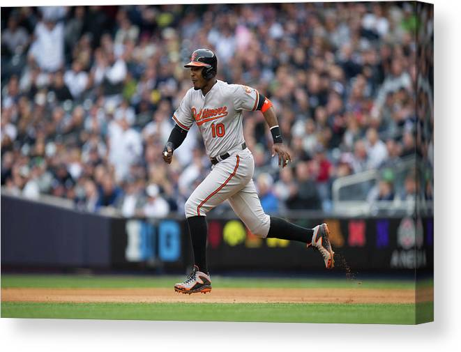 East Canvas Print featuring the photograph Adam Jones by Rob Tringali