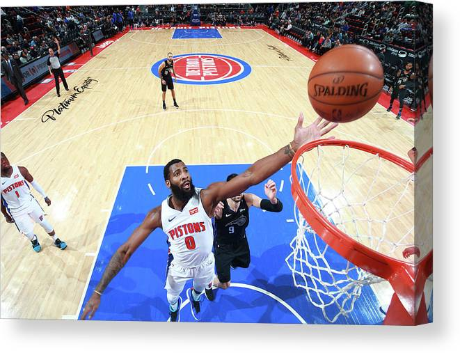 Nba Pro Basketball Canvas Print featuring the photograph Andre Drummond by Brian Sevald
