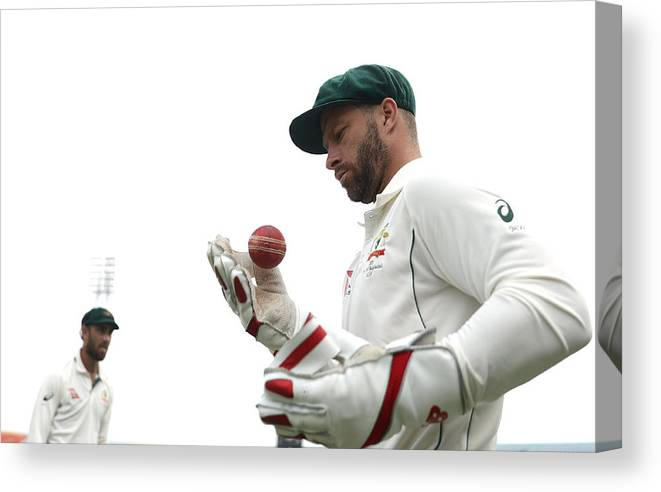 International Match Canvas Print featuring the photograph Bangladesh v Australia - 2nd Test: Day 4 by Robert Cianflone