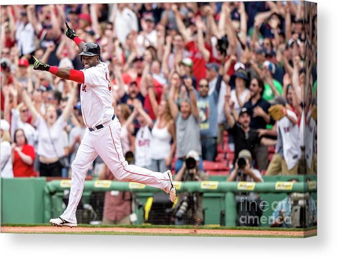 People Canvas Print featuring the photograph David Ortiz by Billie Weiss/boston Red Sox