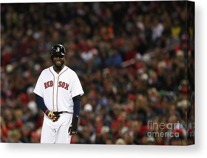 Second Inning Canvas Print featuring the photograph David Ortiz by Elsa