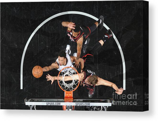 Playoffs Canvas Print featuring the photograph Dejounte Murray by Mark Sobhani