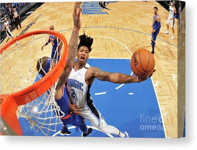 Nba Pro Basketball Canvas Print featuring the photograph Elfrid Payton by Fernando Medina