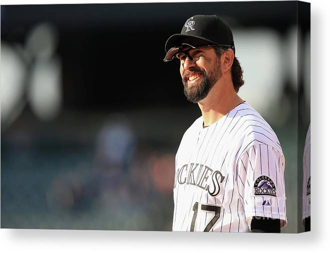 Todd Helton Canvas Print featuring the photograph Todd Helton by Doug Pensinger
