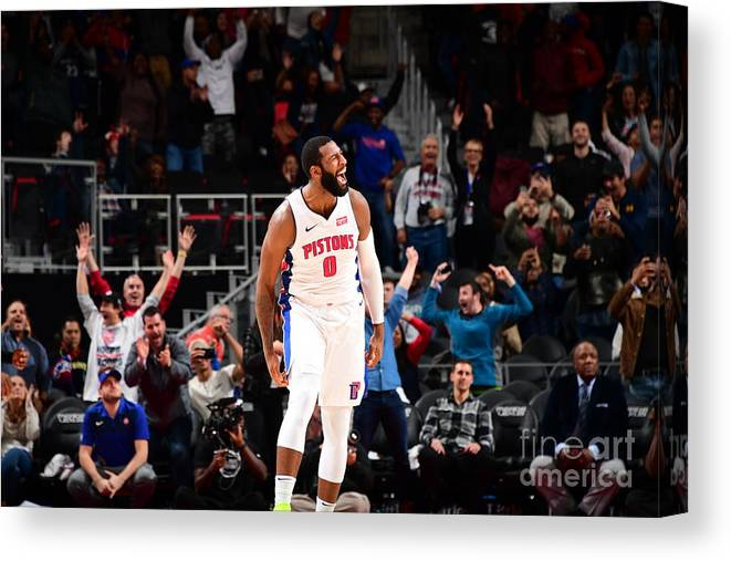 Nba Pro Basketball Canvas Print featuring the photograph Andre Drummond by Chris Schwegler