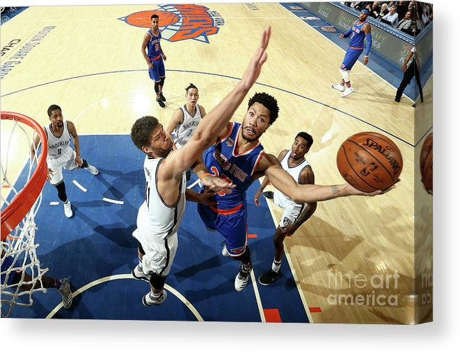Nba Pro Basketball Canvas Print featuring the photograph Derrick Rose by Nathaniel S. Butler