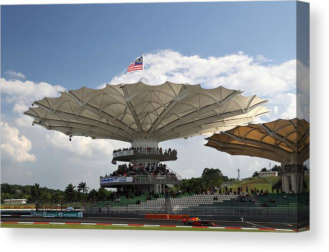 Formula One Grand Prix Canvas Print featuring the photograph F1 Grand Prix of Malaysia by Mark Thompson