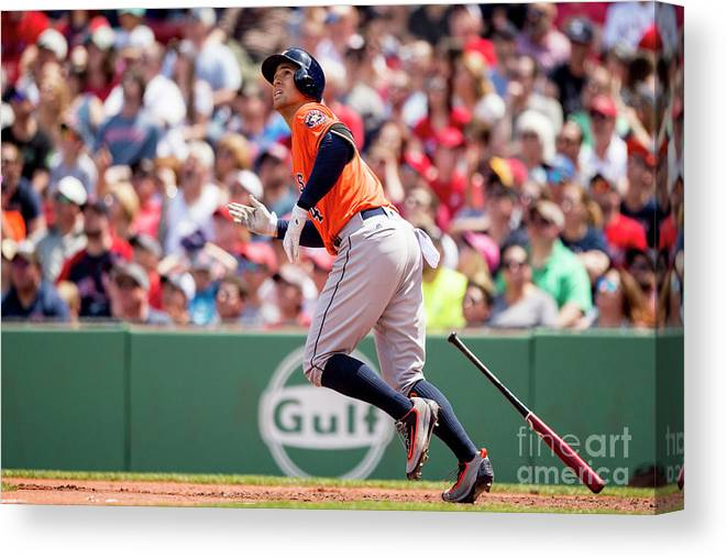 Second Inning Canvas Print featuring the photograph George Springer by Billie Weiss/boston Red Sox