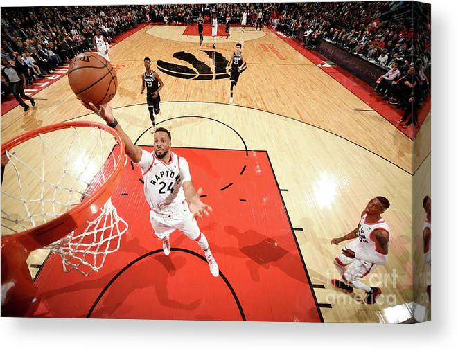 Nba Pro Basketball Canvas Print featuring the photograph Norman Powell by Ron Turenne