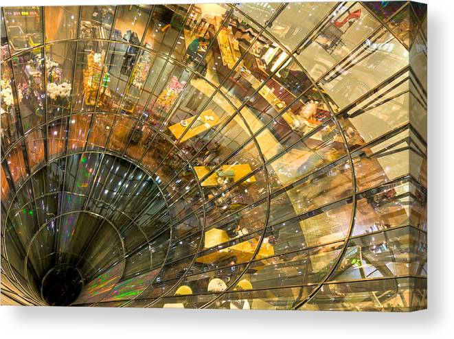 Berlin Canvas Print featuring the photograph A Point of Convergency by Christian Beirle