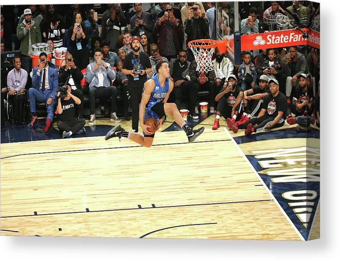 Event Canvas Print featuring the photograph Aaron Gordon by Bruce Yeung