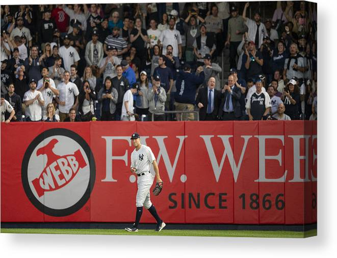 People Canvas Print featuring the photograph Aaron Judge by Billie Weiss/Boston Red Sox