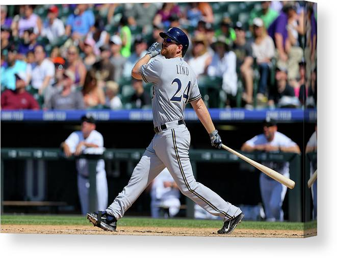 People Canvas Print featuring the photograph Adam Lind by Justin Edmonds