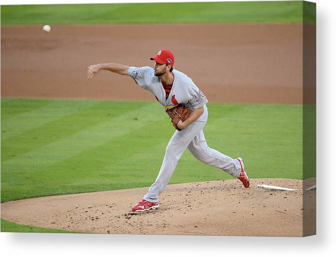 St. Louis Cardinals Canvas Print featuring the photograph Adam Wainwright by Harry How
