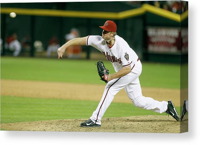 Ninth Inning Canvas Print featuring the photograph Addison Reed by Ralph Freso