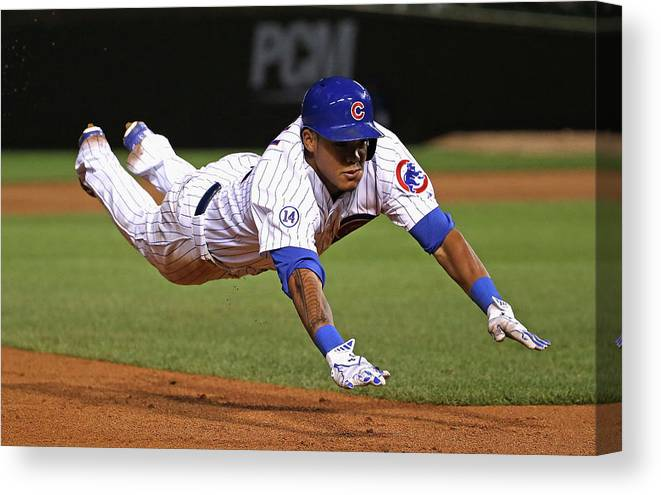 People Canvas Print featuring the photograph Addison Russell by Jonathan Daniel