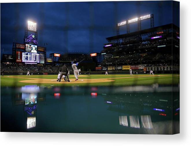 People Canvas Print featuring the photograph Adrian Gonzalez by Justin Edmonds