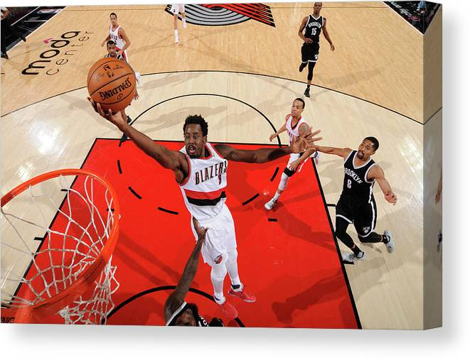 Nba Pro Basketball Canvas Print featuring the photograph Al-farouq Aminu by Cameron Browne