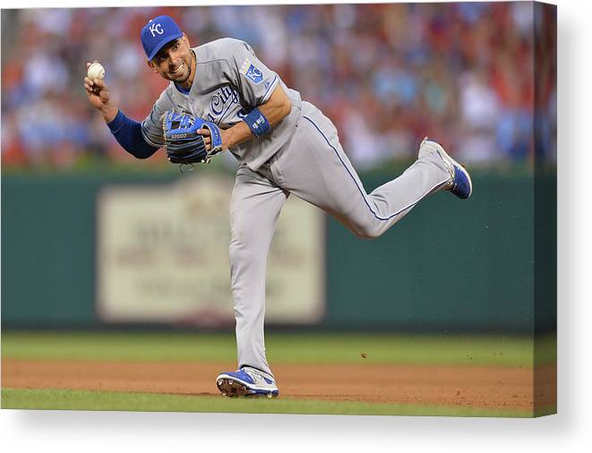People Canvas Print featuring the photograph Alcides Escobar by Michael Thomas