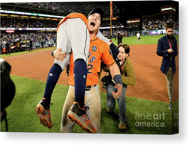 Alex Bregman Canvas Print featuring the photograph Alex Bregman by Harry How