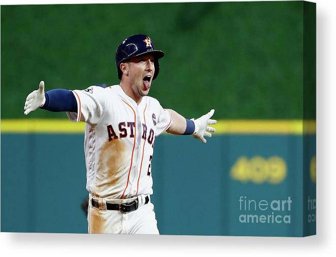 Alex Bregman Canvas Print featuring the photograph Alex Bregman by Jamie Squire